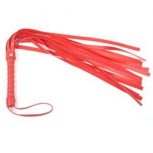 Rød flogger pisk 45cm