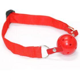 Gag ball med justerbar rem