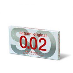 2 stk. SAGAMI latex-fri Original 0.02 kondomer