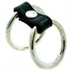 Bondage Dual Ring Metal Penis ring