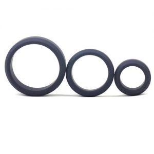 Triple Penis Ringe Sæt (Sorte) med tre ringe