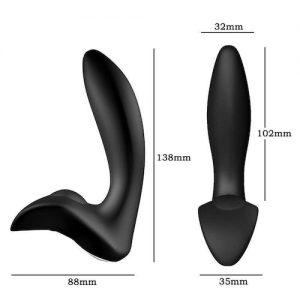 Prostata massager Sort 138 mm