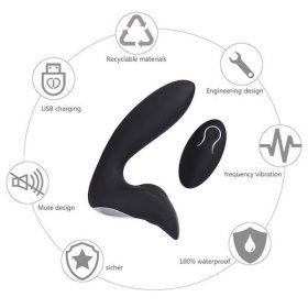 Prostata massager Sort høj kvalitet