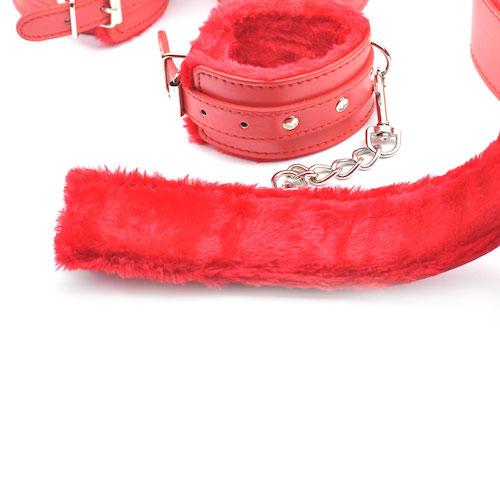 Rødt SM-sæt (7 dele)