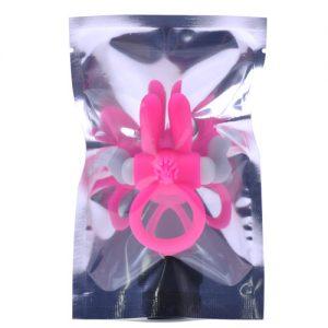 Penis ring med kaninører i pink