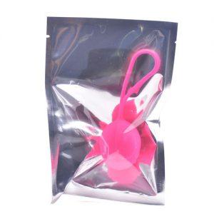Silikone Single Kegel Balls (Pink) Emballage