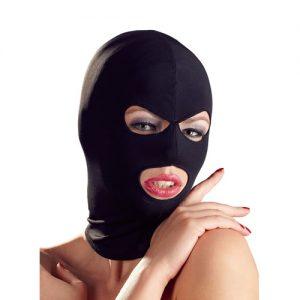 Fetish maske med hul til øjne og mund