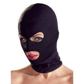 Fetish maske med hul til øjne og mund i spandex