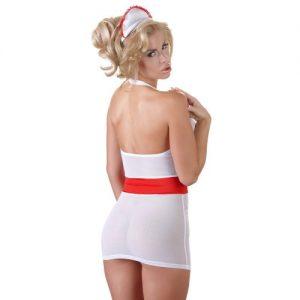 Sexet sygeplejerske kostume i hvid