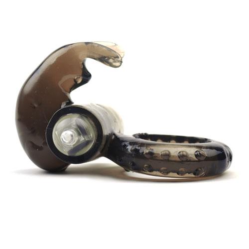 penisring med vibrator kaninører i sort