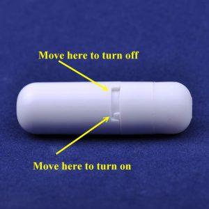 Blå penisring med vibrator kaninører batteriholder