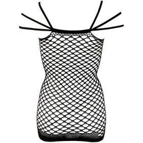 sort gennemsigtig net kjole med stropper