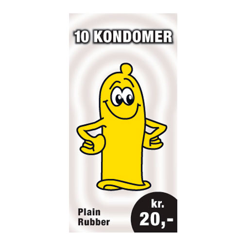 Image of   10 kondomer for 20 kr.
