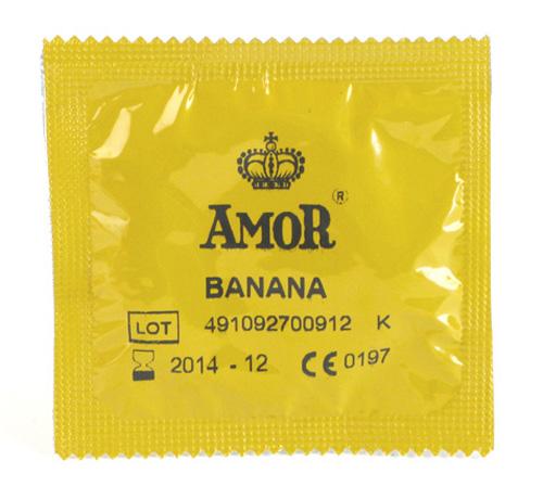 Image of AMOR - Banana kondom 1 stk