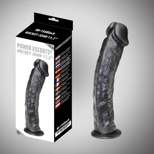 Køb Power Escorts stor dildo 28,5 cm – Sort