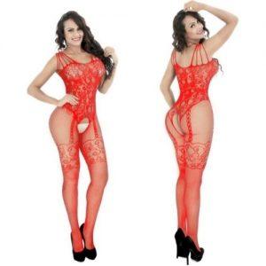 fræk rød catsuit