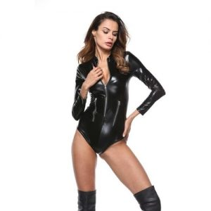kinky latex bodystocking i sort