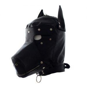 hunde maske i sort