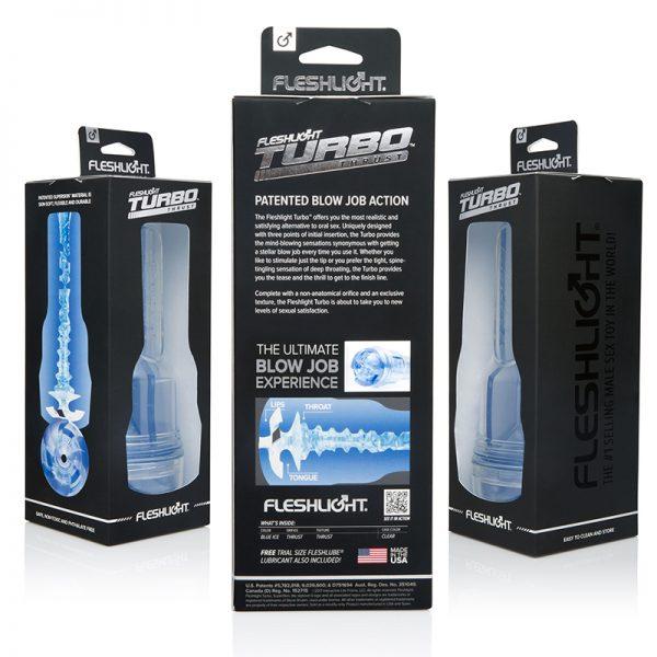 Fleshlight Turbo Thrust Blue Ice blowjob masturbator