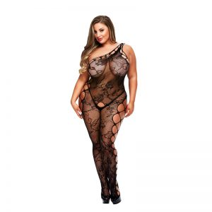 Baci Plus size catsuit i sort