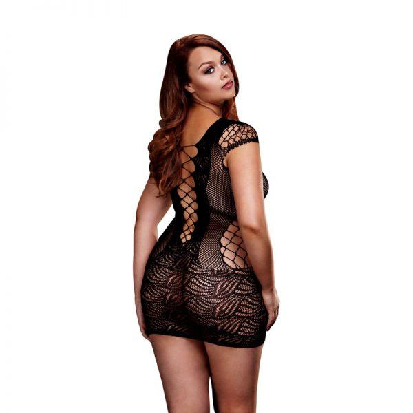 Baci corset Blonde mini kjole i sort