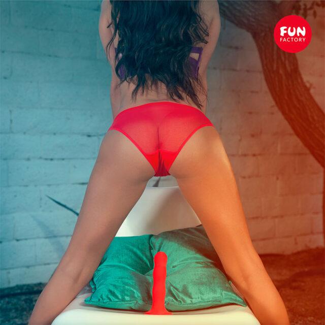 Fun Factory Bouncer Dildo med Sugekop Rød mood girl