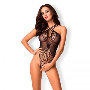 Obsessive Bundløs bodystocking i sort