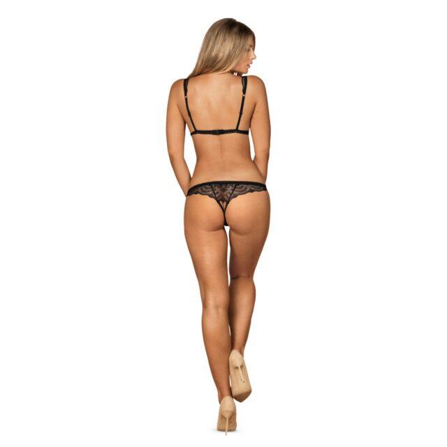 Obsessive Firella bundløs bodystocking i blonde lingeri med udskæringer