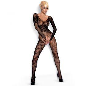 Obsessive catsuit med blonde og net mønster