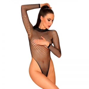 obsessive Plus size bodystocking i net