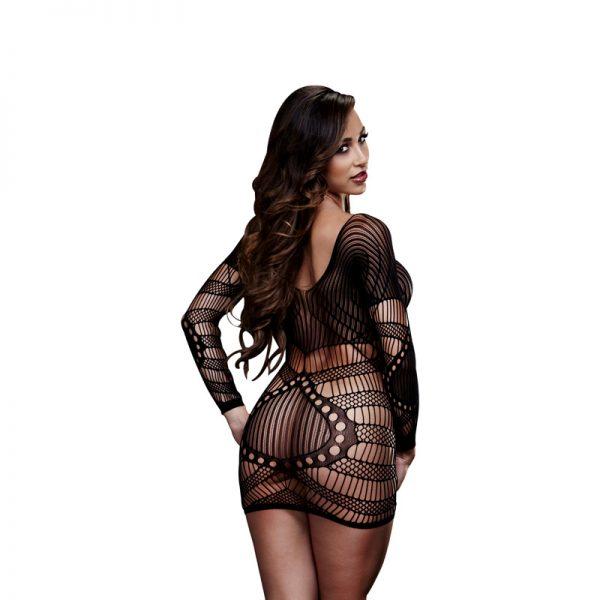 Baci Mini kjole med lange aermer