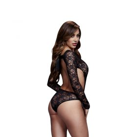 Baci sort bodystocking med blonder