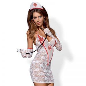 Obsessive Sygeplejerske Kostume