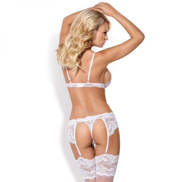 Obsessive lingerisæt i 3 dele hvid