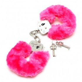 Pink plys håndjern
