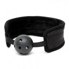 gag ball sort med velcro