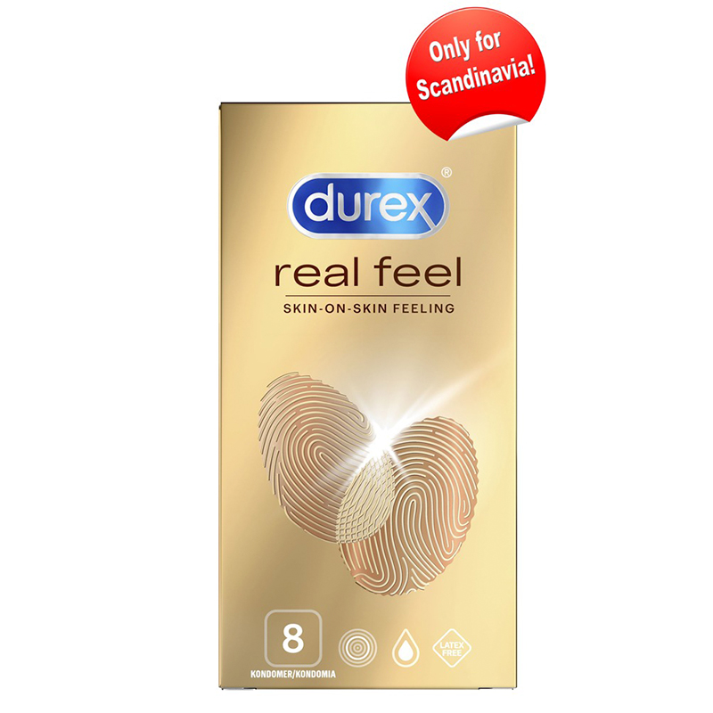 Køb Durex Real Feel Kondomer – 8 Stk.