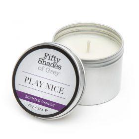 Fifty Shades of grey play nice vanilje duftlys