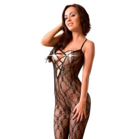 Lingeri By Mandy Mystery Blonde catsuit i sort